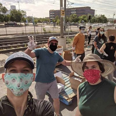 Volunteering group photo